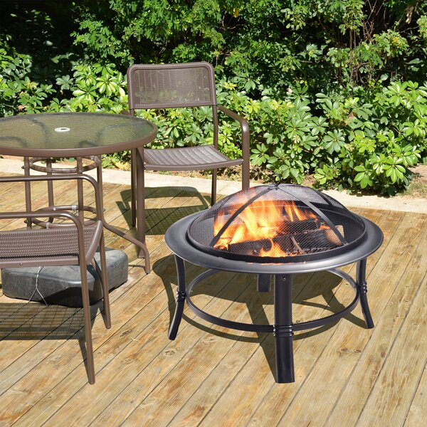 Outdoor Steel Wood Burning Fire Pit by Peaktop