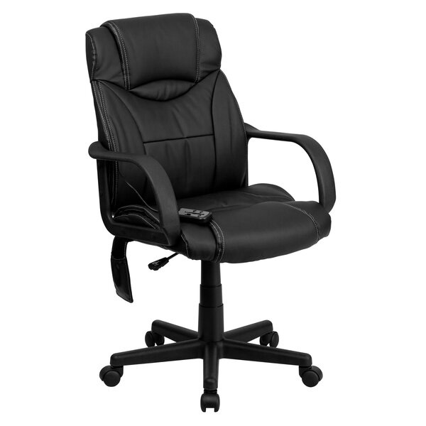 Mid-Back Leather Desk Chair by Offex