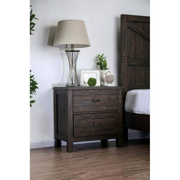 Colville Solid Wood 2 Drawer Nightstand By Gracie Oaks by Gracie Oaks #1