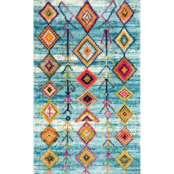 Eligah Blue Area Rug by Bungalow Rose
