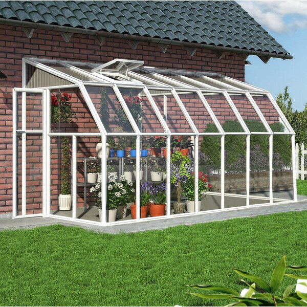 Sun Room 2 6 Ft. W x 14 Ft. D Greenhouse by Rion Greenhouses