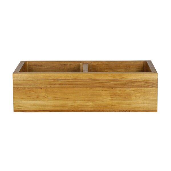 Malaki 36 L x 18 W Double Basin Farmhouse Kitchen Sink with Drain Assembly