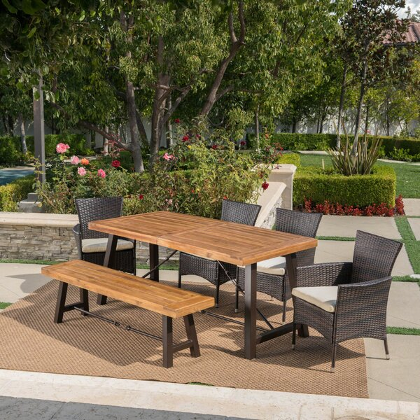 Antora Outdoor 6 Piece Dining Set with Cushions by Brayden Studio