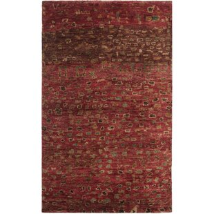 Velsen Hand-Tufted Wool Red/Brown Area Rug by Bungalow Rose