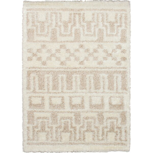 Chesterhill Mayan Shag Cream Area Rug by Foundry Select