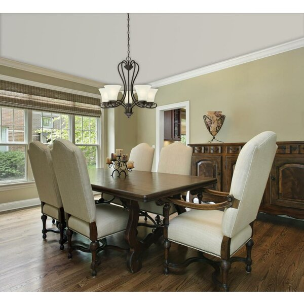 Metz 5 - Light Shaded Classic / Traditional Chandelier By Charlton Home