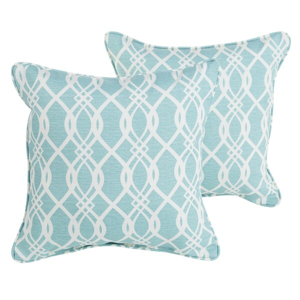 Brookwood Indoor/Outdoor Corded Throw Pillow (Set of 2) by Rosecliff Heights