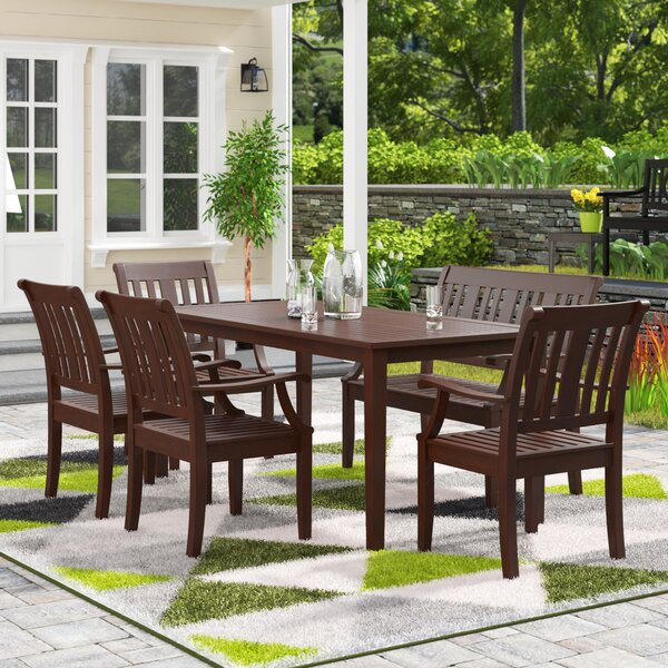 Dowling 6 Piece Dining Set by Three Posts