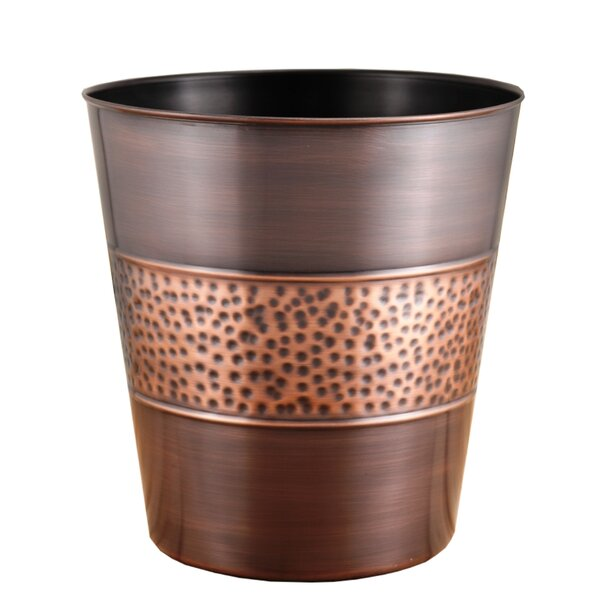 Hammered Tonal 3 Gallon Waste Basket by Fashion Home
