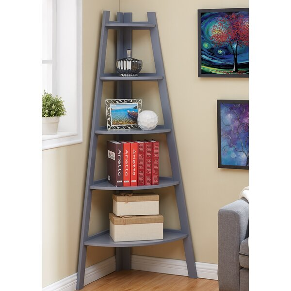 Foskey Decorative 5-Tier Frame Corner Unit Bookcase by Highland Dunes