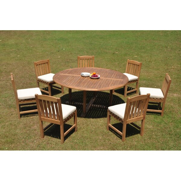 Dedman 8 Piece Teak Dining Set by Rosecliff Heights