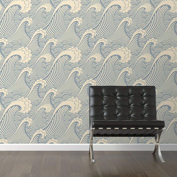 Waves Of Chic Removable 10 X 20 Abstract Wallpaper