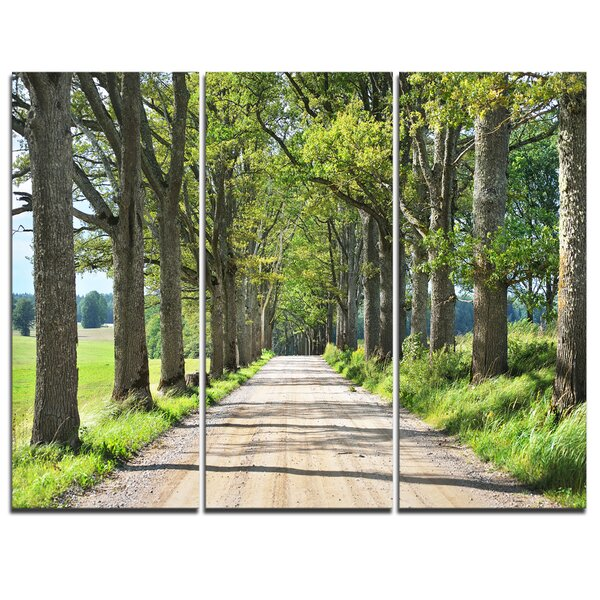 Old Road Through Alley - 3 Piece Photographic Print on Wrapped Canvas Set by Design Art