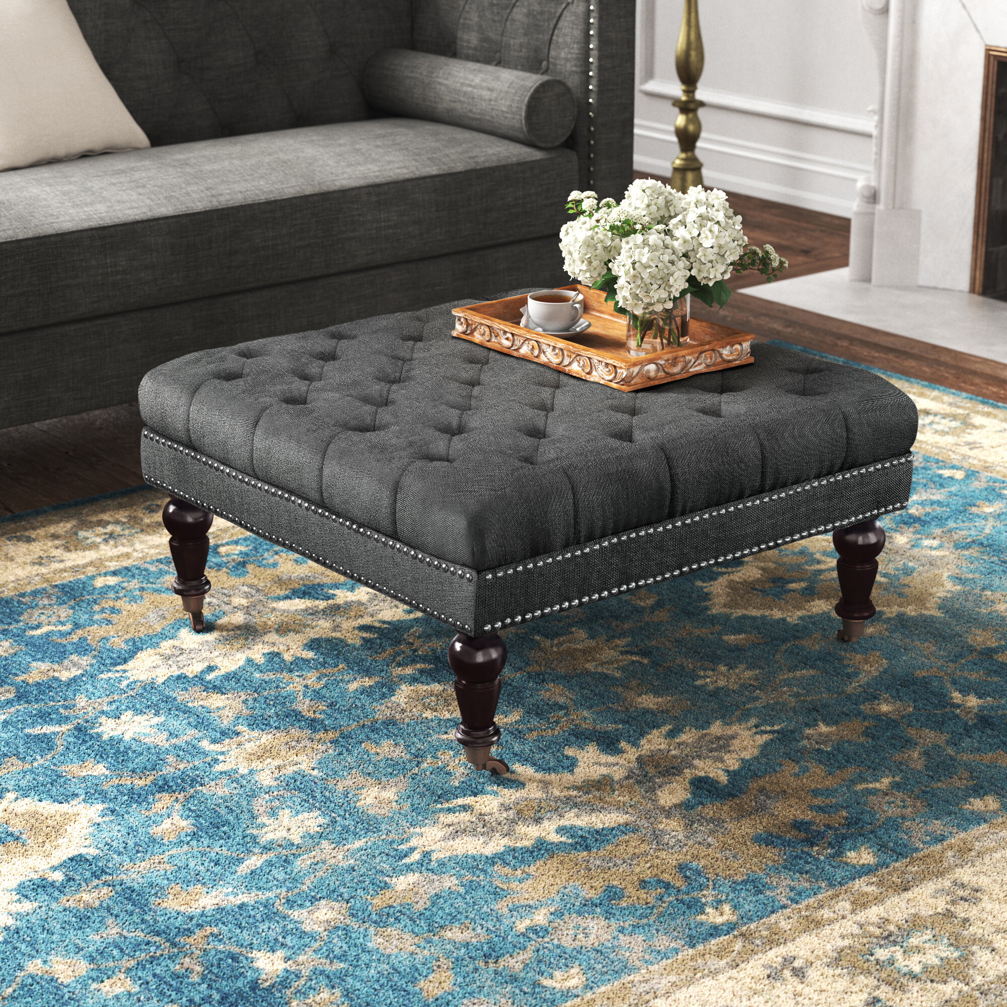 Square Upholstered Coffee Tables You Ll Love In 2021 Wayfair