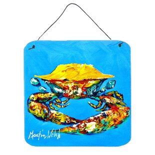 Crab Baby Hanging Painting Print Plaque