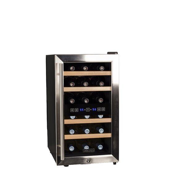 18 Bottle Dual Zone Freestanding Wine Refrigerator By Koldfront