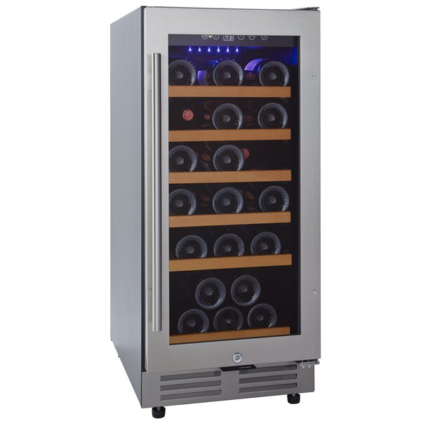30 Bottle Enthusiast Classic Single Zone Freestanding Wine Cooler by Wine Enthusiast