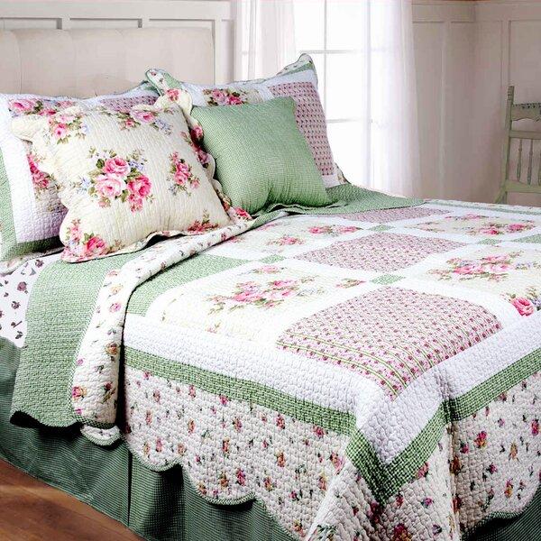 Spring Patch Cotton Quilt Set by Textiles Plus Inc.