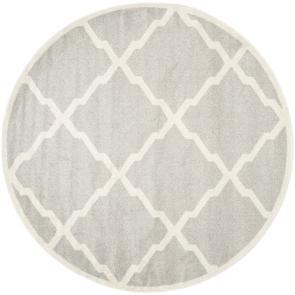 Maritza Light Gray/Beige Indoor/Outdoor Area Rug by Willa Arlo Interiors