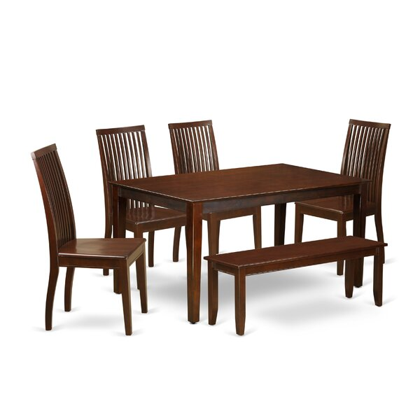 Smyrna 6 Piece Solid Wood Dining Set by Charlton Home Charlton Home