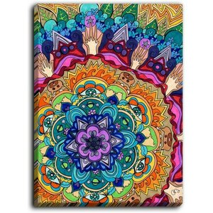 'Microcosm Mandala' by Rachel Brown Graphic Art on Wrapped Canvas by DiaNoche Designs