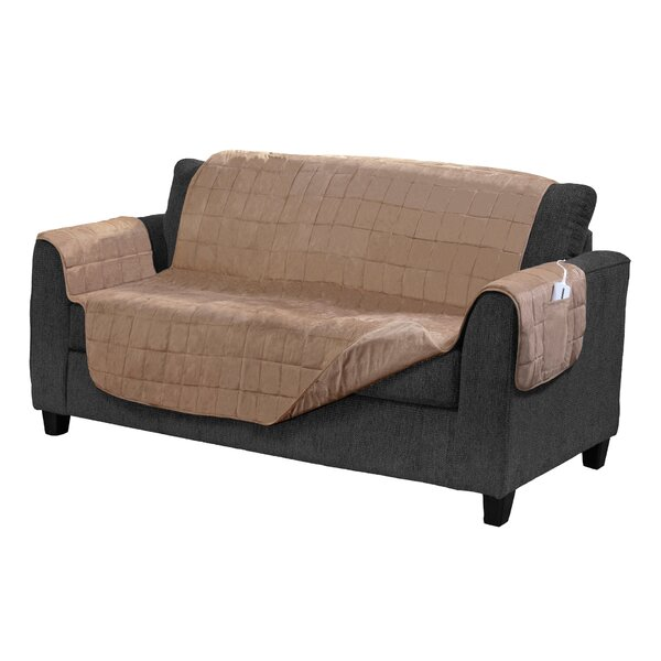Electric Warming Box Cushion Loveseat Slipcover by Serta