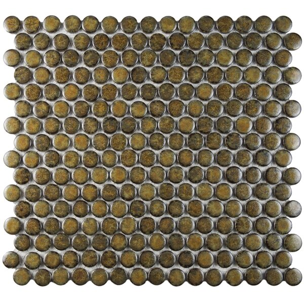 Penny 0.8 x 0.8 Porcelain Mosaic Tile in Brownstone by EliteTile