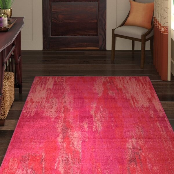 Killington Pink Area Rug by World Menagerie