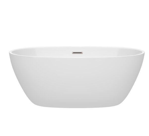 Juno 59 x 32 Freestanding Soaking Bathtub by Wyndh