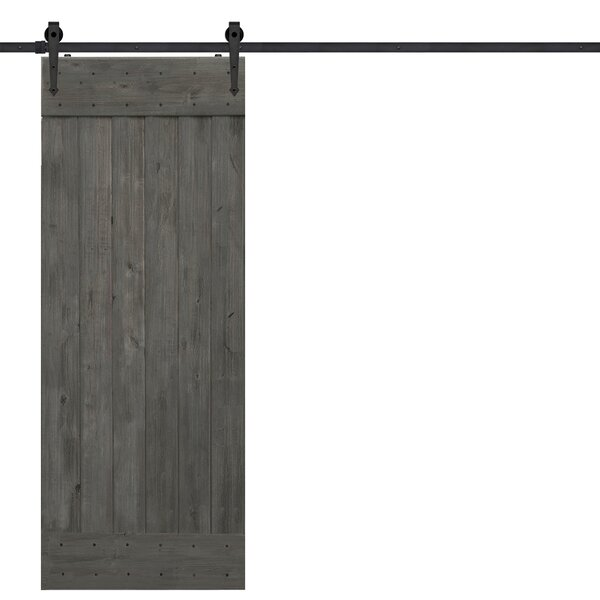 BarnWood Plank Wood 1 Panel Interior Barn Door by Barndoorz