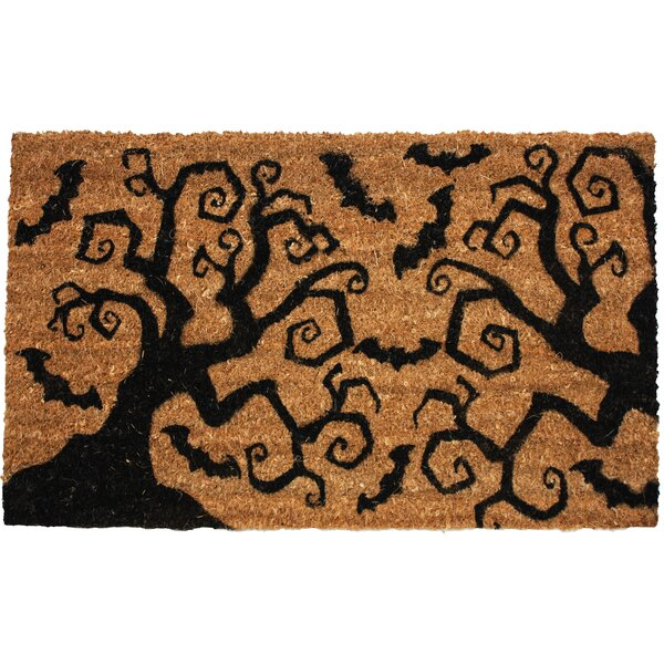 Halloween Bats & Trees Doormat by J and M Home Fas