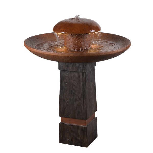 Cremini Resin Floor Fountain by Wildon Home ®