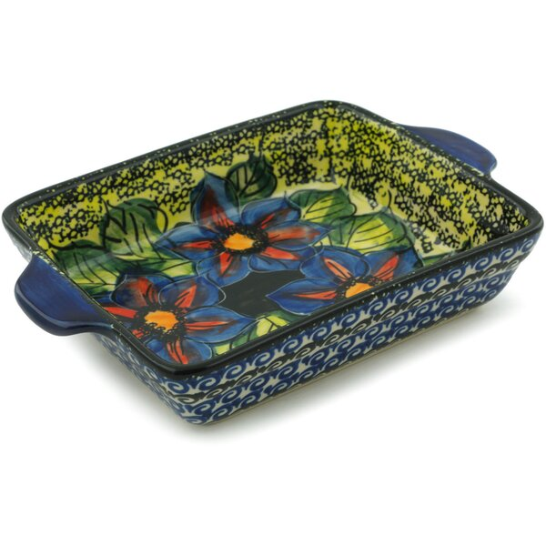 Midnight Glow Rectangular Non-Stick Polish Pottery Baker by Polmedia