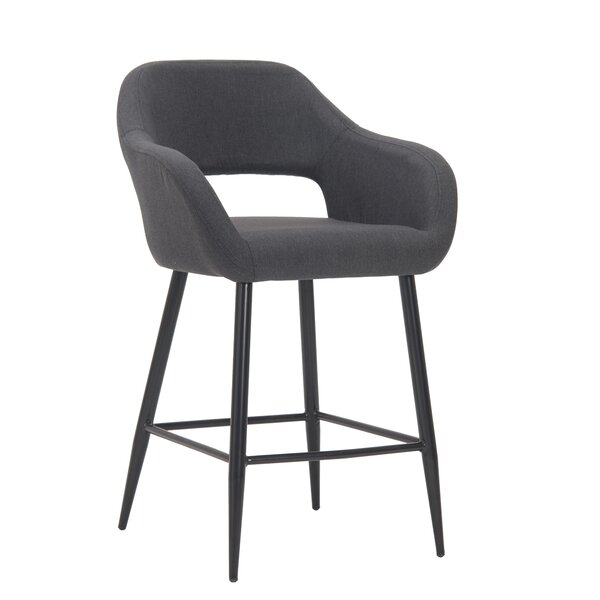 Pepe Upholstered Arm Chair In Gray By George Oliver