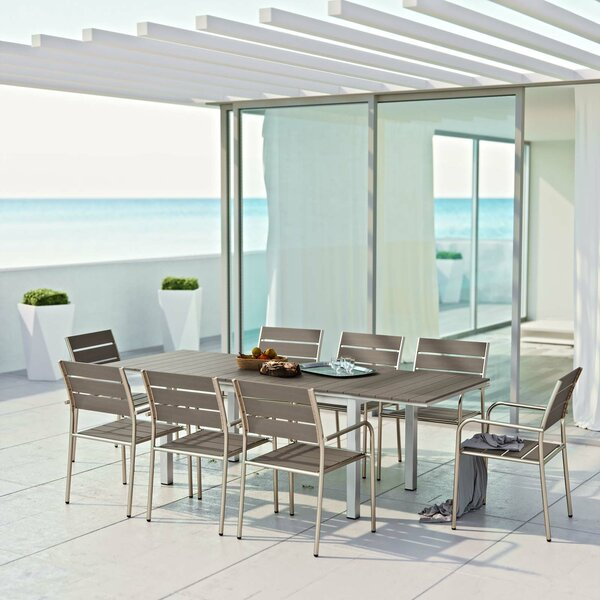 Coline 9 Piece Outdoor Dining Set by Orren Ellis
