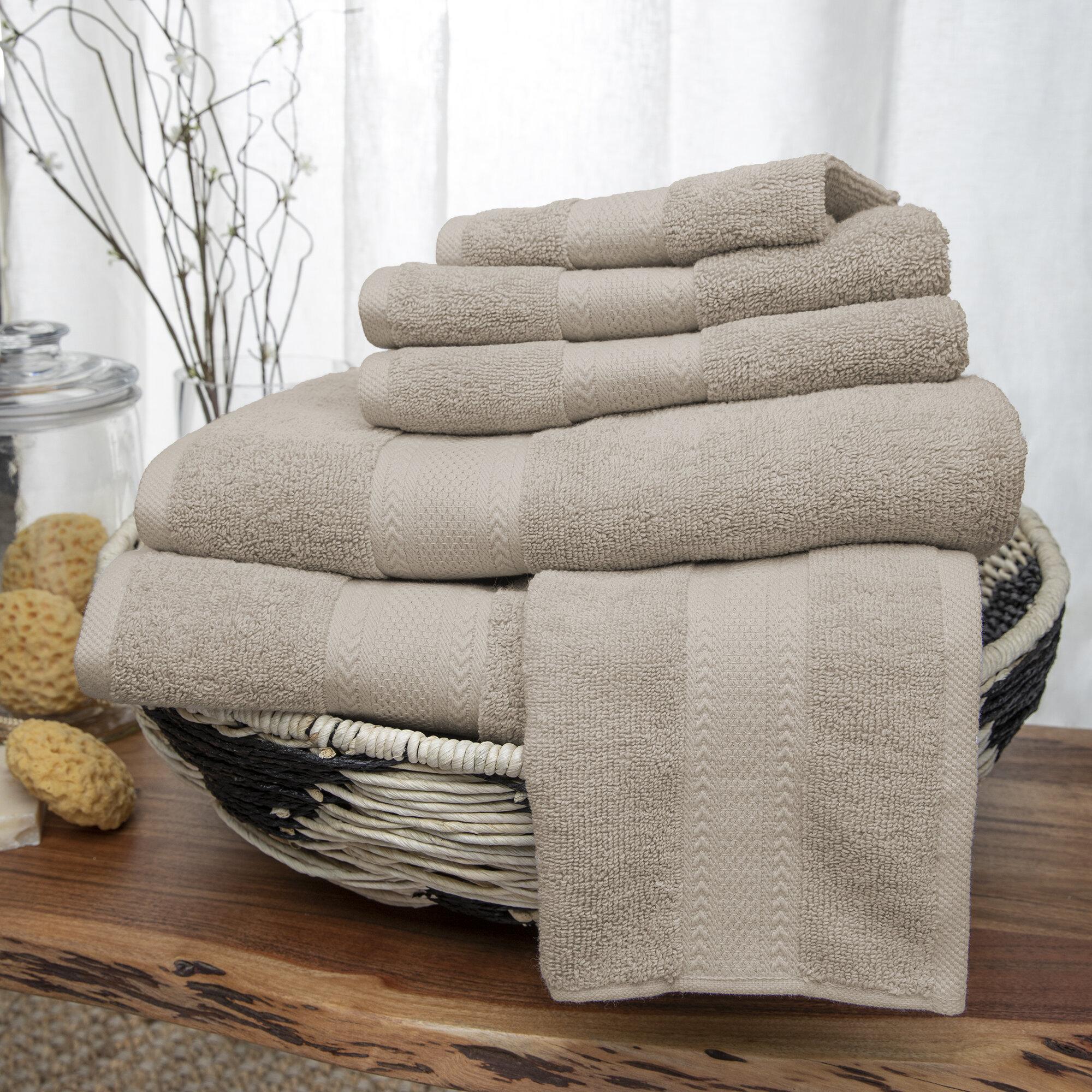 3-Piece  100/% Cotton Towels Low Twist Yarn Bath Hand Face Towel Set Gift box