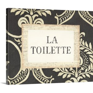 'La Toilette' by Emily Adams Textual Art on Wrapped Canvas by Great Big Canvas