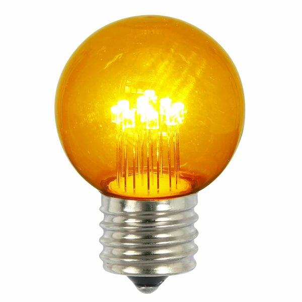9W Amber E26 LED Light Bulb (Set of 5) by Vickerman
