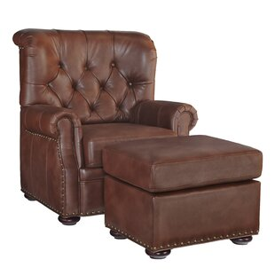 Review Stationary Club Chair And Ottoman by Home Styles