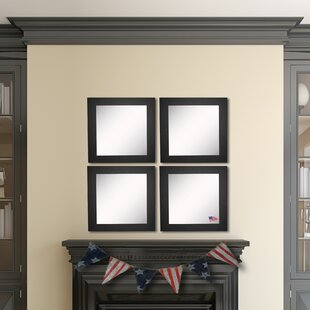Online Reviews Waite Black Satin Wide Wall Mirror (Set of 4) ByEbern Designs