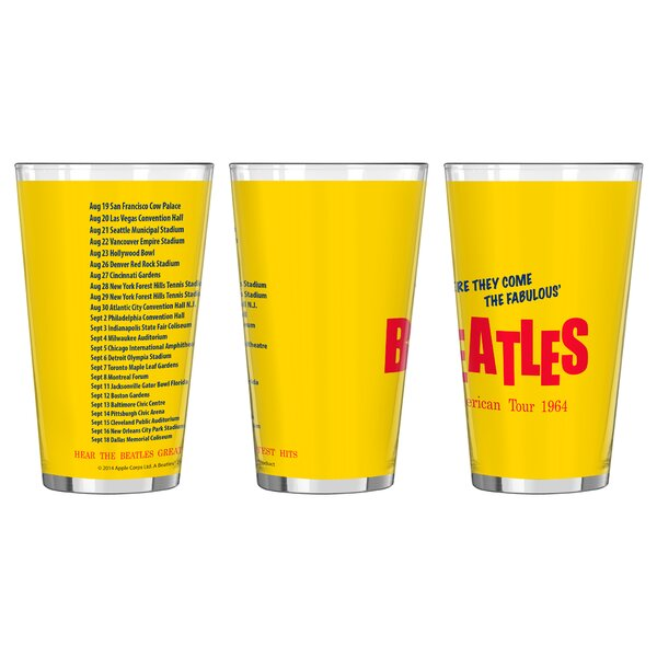 Beatles American Tour Collectible Pint Glass by Boelter Brands