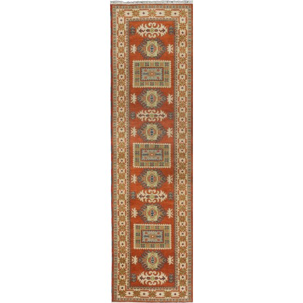 One-of-a-Kind Doering Hand-Knotted Orange Area Rug by Isabelline