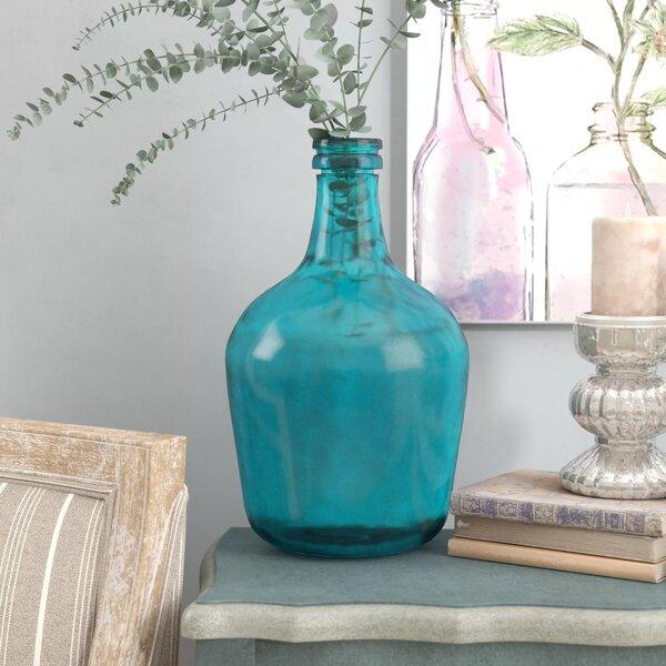 Parisian Bottle Glass Table Vase by Laurel Foundry Modern Farmhouse