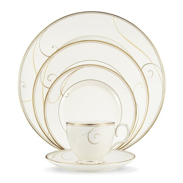 Golden Wave 5 Piece Place Setting, Service for 1 by Noritake