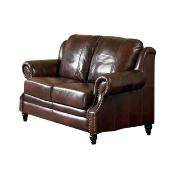 Hensley Leather Loveseat by Loon Peak