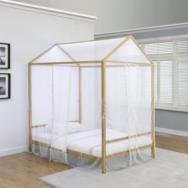 Hollister Metal Canopy Bed by Everly Quinn
