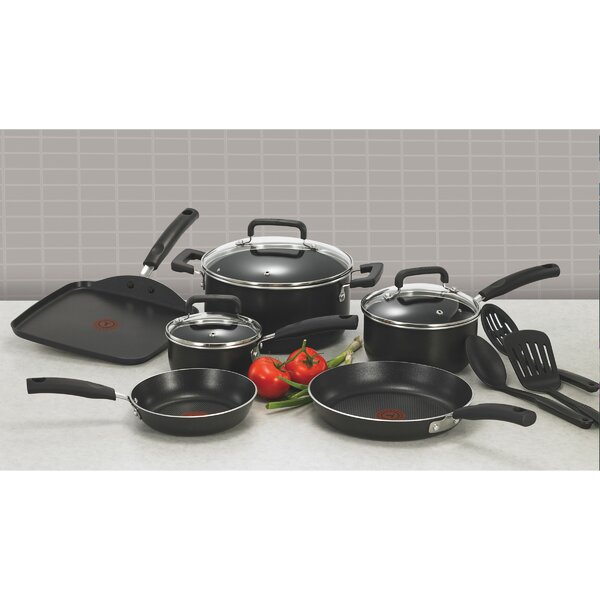 Signature 12-Piece Non-Stick Cookware Set by T-fal
