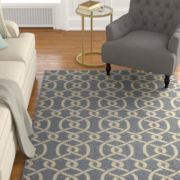 Montville Morrison Navy Blue/gray Area Rug by Charlton Home