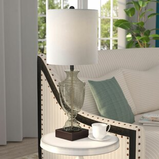 Reviews Rubicon Smoke Seeded Glass Body Transitional 31.5 Table Lamp By Alcott Hill