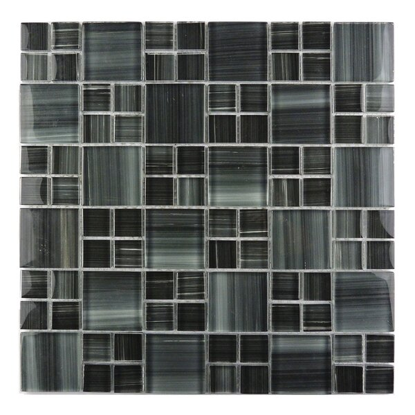 Handicraft II Random Sized Glass Mosaic Tile in Glazed  Lagoon by Abolos